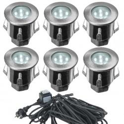 Kit Complet 6 Mini Spots Encastrables 12V LED