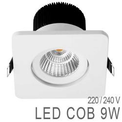Spot Orientable Carré 9W LED COB