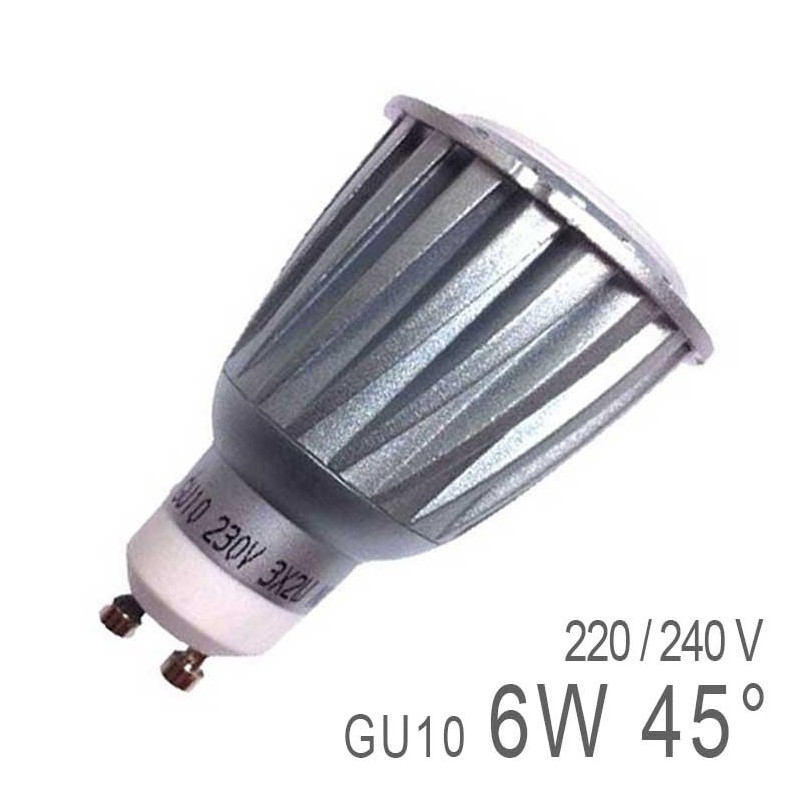 ampoule led gu10 6w high power prix mini. Black Bedroom Furniture Sets. Home Design Ideas