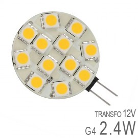 Ampoule LED G4 Plate 2,4W SMD Dimmable