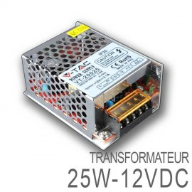 Transformateur LED 25W 12 Volts DC IP20