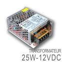 Transformateur LED 25W 12 Volts DC IP20