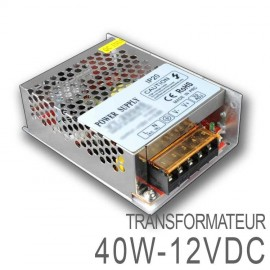 Transformateur LED 40W 12 Volts DC IP20