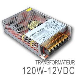 Transformateur LED 120W 12 Volts DC IP20