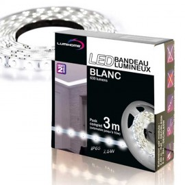 Coffret 1x3m Ruban LED Blanc Chaud/Froid