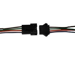 Kit Connecteurs 4 Pin Mâle/Femelle à souder pour ruban LED RGB