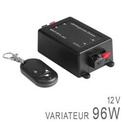 Variateur 12V 96 Watts + Télécommande porte-clefs RF