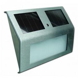 Lot de 2x Appliques LED Solaire Escaliers inox