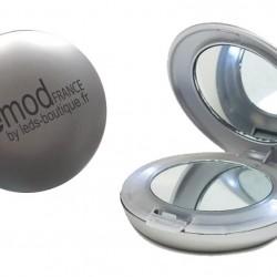 Miroir de poche avec LED intégrées