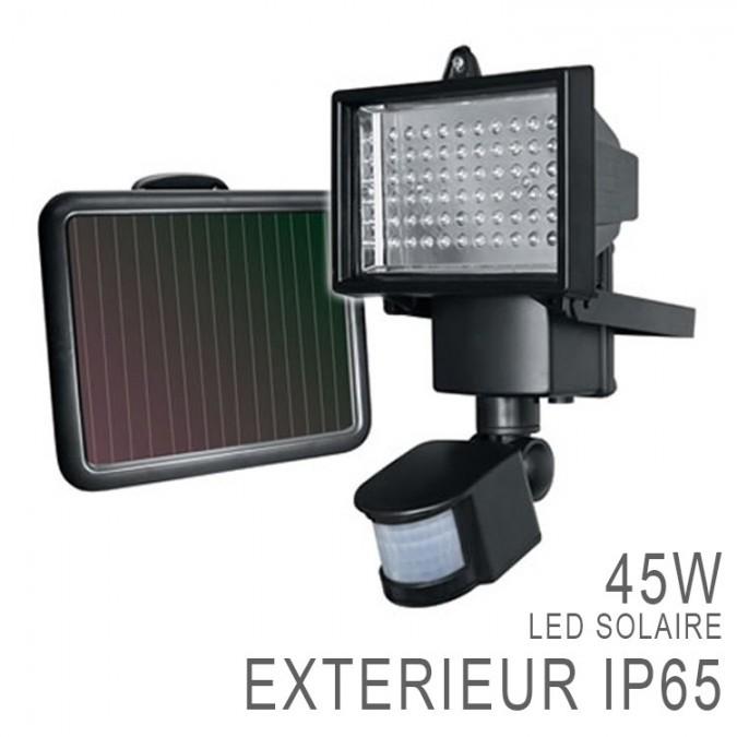 Projecteur led ext rieur solaire rechargeable d tecteur - Projecteur solaire led exterieur avec detecteur ...