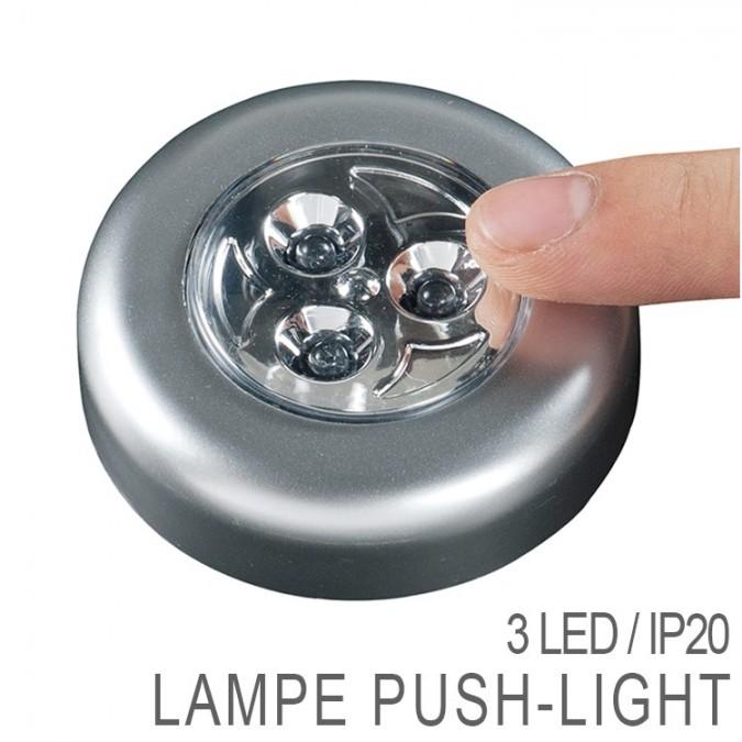 Lampe Push-Light 3 LED