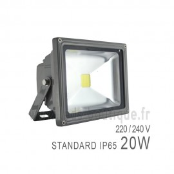 Projecteur LED COB 20W Extérieur IP65 Gris