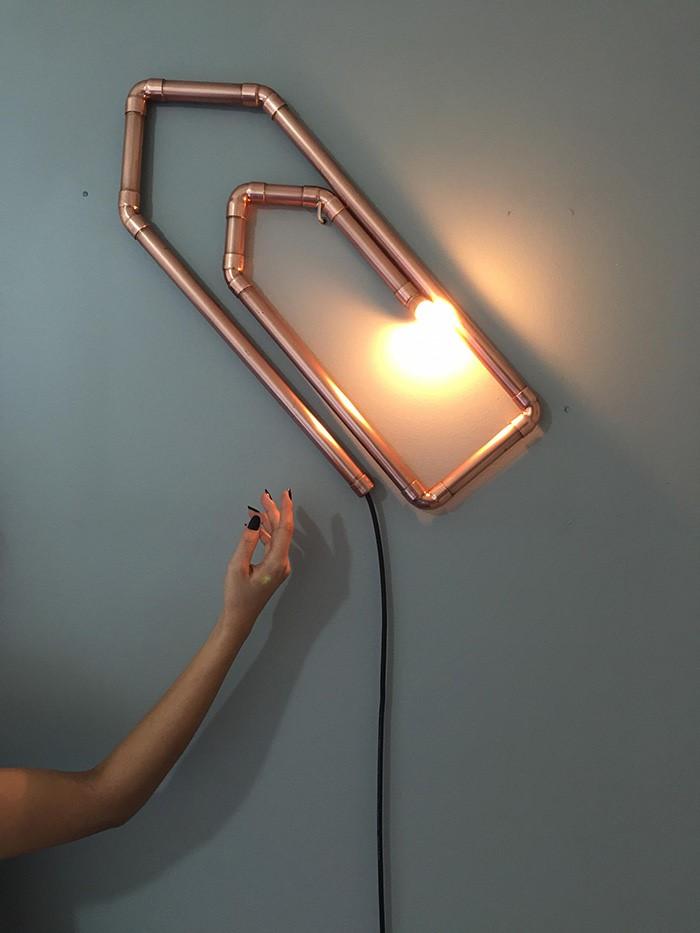 Luminaire trombone