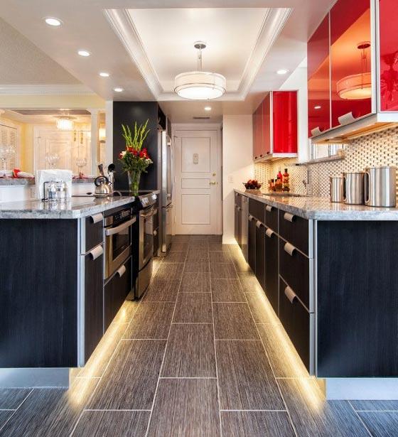Ambiance déco ruban LED dans votre cuisine / salon / séjour by Leds-boutique.fr