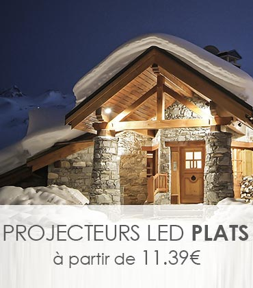 Projecteur led Vision-EL et Lumihome pour l'éclairage hivernale